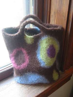 Photo of felted wool tote