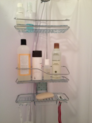 OXO three-tier shower caddy photo