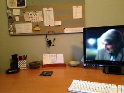 Desk after decluttering