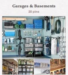 Garages & Basements pinboard