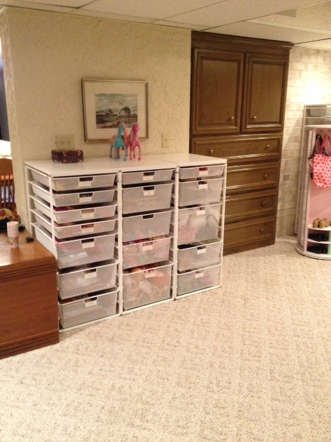 Elfa drawer craft and toy storage