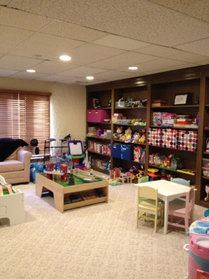 Playroom transformation - after