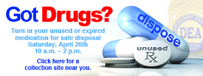 Drug Takeback day is April 26
