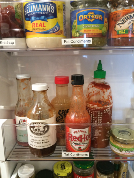 Labels in your refrigerator can help you find what you need.