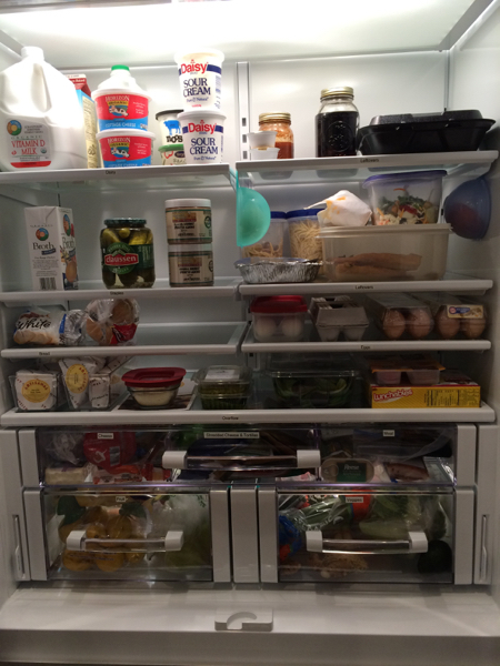 Labels can help a refrigerator stay organized.