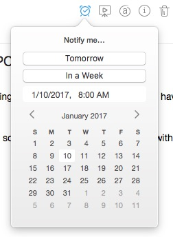 Using Evernote reminders