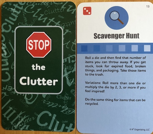 Stop the Clutter cards