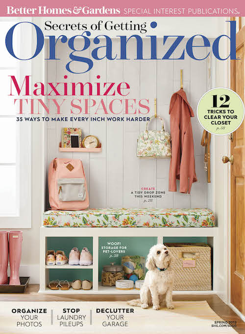 Secrets of Getting Organized Spring 2019 cover